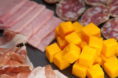 Assorted cold cut platter Royalty Free Stock Photos