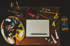Assorted-color Artwork Equipment Set Stock Photography
