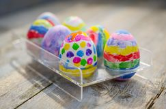 Assorted-color Easter Egg Lot Stock Photos