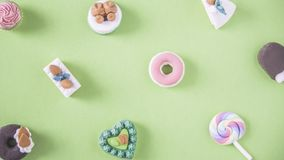 Assorted-color Food Miniature Decors stock photography