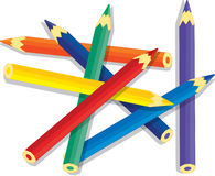 Assorted color pencils Royalty Free Stock Photo