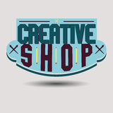 Assorted color retro design insignias logotypes Royalty Free Stock Images