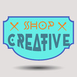 Assorted color retro design insignias logotypes Royalty Free Stock Photography