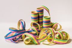 Assorted-color Ribbon With Spool Royalty Free Stock Images