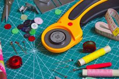 Assorted-color Sewing Machine Stock Image