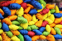 Assorted Color of Yarn during Daytime Royalty Free Stock Photo