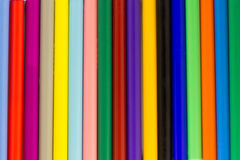 Assorted coloreó el fondo de los rotuladores Fotografía de archivo libre de regalías