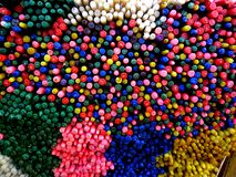 Assorted coloreó velas Imagenes de archivo