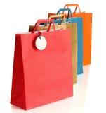 Assorted coloreó bolsos de compras Imágenes de archivo libres de regalías
