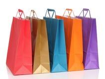 Assorted coloreó bolsos de compras Imagen de archivo