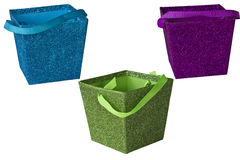 Assorted colored boxes Royalty Free Stock Images