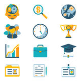 Assorted Colored Business Icons Royalty Free Stock Photos