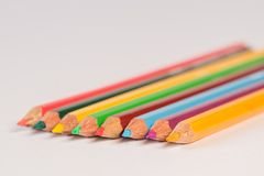 Assorted-colored Pencils Stock Images