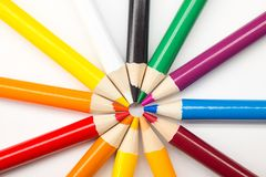 Assorted Colored Pencils Royalty Free Stock Photography