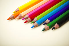 Assorted Colored Pencils Stock Image