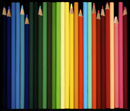 Assorted colored pencils Stock Photos