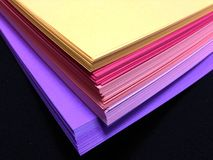 Free Assorted Colored Pile Of Papers Royalty Free Stock Image - 28191346