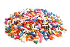 Assorted colored sprinkles Royalty Free Stock Photos