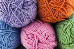 Assorted yarns Stock Images