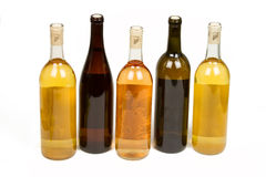 Assorted Colorful Bottles of Wine Royalty Free Stock Photography