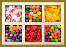 Assorted colorful candies Royalty Free Stock Images