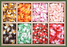 Assorted colorful candy. Box for holiday season royalty free stock photo