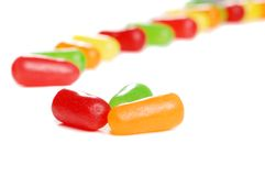 Free Assorted Colorful Candy In A Line Stock Image - 13215641