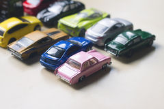 Assorted colorful car collection Royalty Free Stock Images