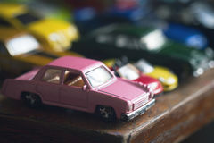Assorted colorful car collection Stock Photos