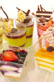 Assorted colorful desserts Royalty Free Stock Photos