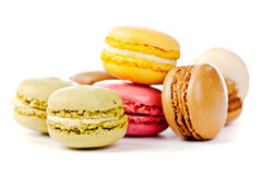 Assorted colorful french macarons Stock Photography