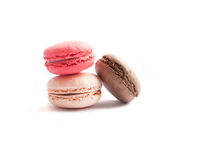Assorted colorful french macarons Stock Photo