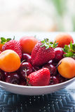 Assorted Colorful Fresh Summer Berries And Fruits Royalty Free Stock Photography
