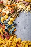 Assorted Colorful Italian Pasta Royalty Free Stock Image