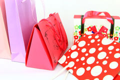 Assorted colorful shopping bags isolated Stock Image