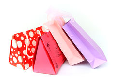 Assorted colorful shopping bags isolated Royalty Free Stock Image