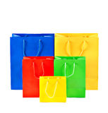 Assorted colorful shopping bags. Sale concept Royalty Free Stock Images