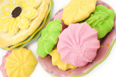 Assorted Colorful Spring Cookies Stock Photos