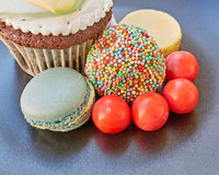 Assorted colorful sweets closeup Royalty Free Stock Images