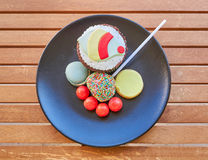 Assorted colorful sweets top view Royalty Free Stock Photo