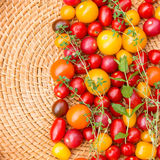 Assorted colorful tomatoes Stock Photos