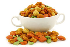 Assorted colorfulI flavored nuts Stock Photos