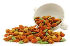 Assorted colorfulI flavored nuts Stock Images
