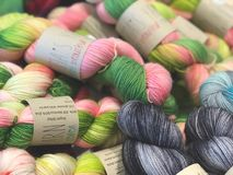 Assorted Colors of Threads royalty free stock photo