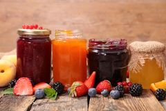 Assorted confiture Royalty Free Stock Photo