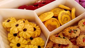 Assorted cookies aidilfitri royalty free stock image