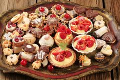 Assorted cookies and desserts Royalty Free Stock Photography