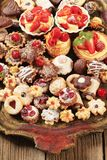 Assorted cookies and desserts Royalty Free Stock Photo