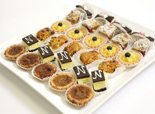 Assorted cookies and pastry royalty free stock photography