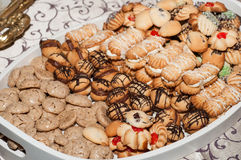 Assorted Cookies on a Plate Stock Images
